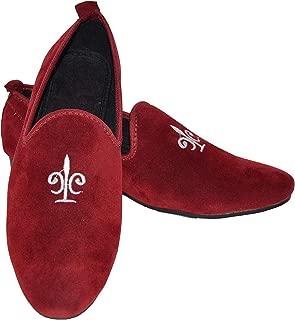 Velour India Men's Cherry Red Velvet Loafers Casual Shoes for Men & Boys