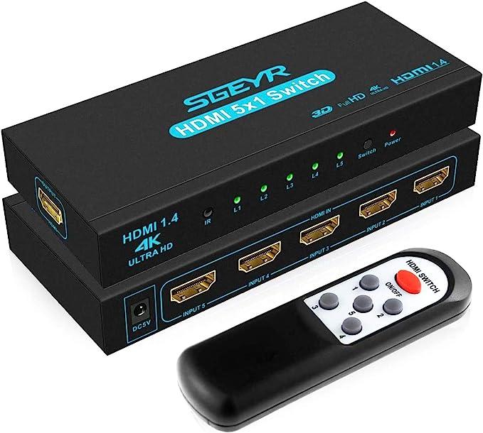 Sgeyr 5X1 4K Hdmi Switch