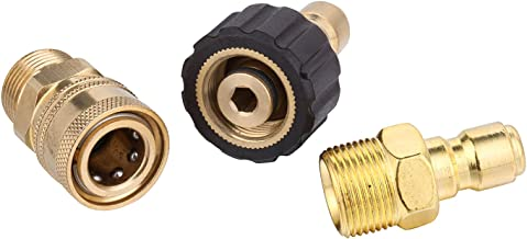 Challco Pressure Adapter Set M22 14mm to 3/8 inch Quick Connect Kit for High Pressure Washer Gun and Hoses
