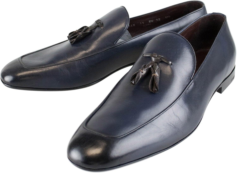 Ermenegildo Zegna blueee Leather Tassel Loafers Dress shoes Size 12 US 11 EU