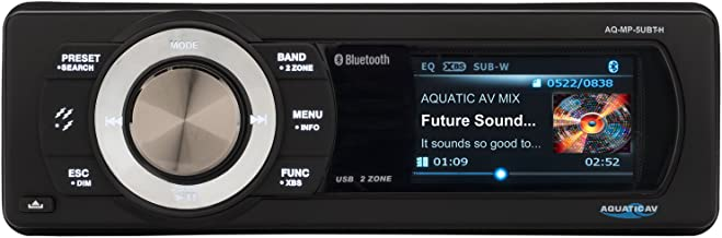 "Aquatic AV AQ-MP-5UBT-H Factory Harley Davidson Replacement AM/FM Radio with 3"" Color LCD Display, Bluetooth & MP3 Media Player Stereo"