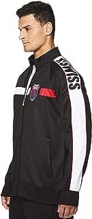 K-Swiss Men's Full Zip Up Track Jacket - Long Sleeve Running & Warmup Top