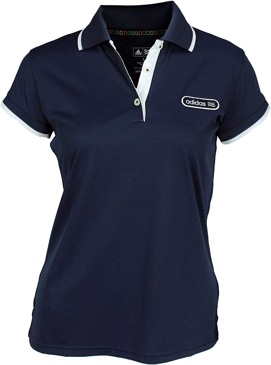 adidas Taylormade Womens Front Pocket Solid Polo Shirt with Patch