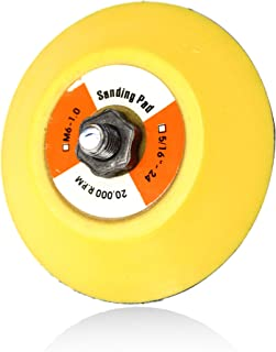 Maxshine ShineMaster Professional Yellow DA/Dual Action Dia: 3 inches/75mm Backing Pad-Ideal for All Brands of Dual Action Polisher