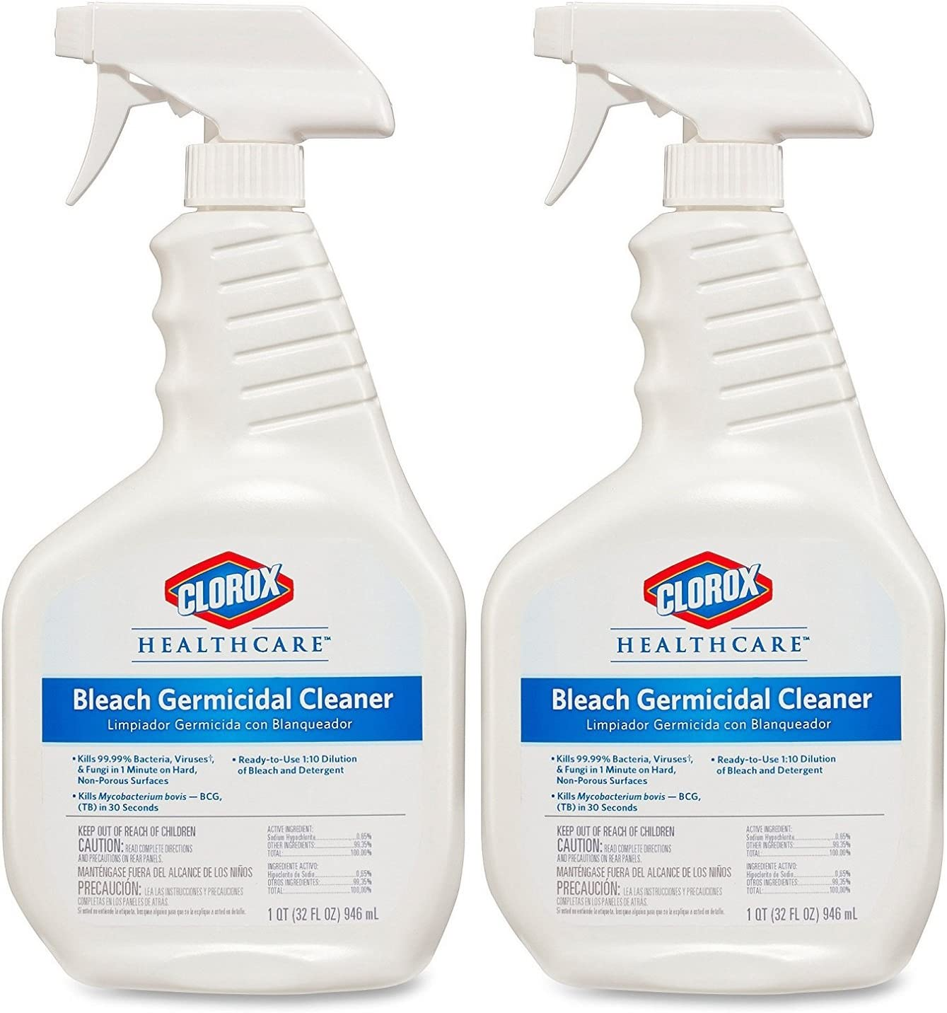 Clorox 35% OFF Healthcare Bleach Germicidal Super special price Cleaner Pack of Ounce 2 32