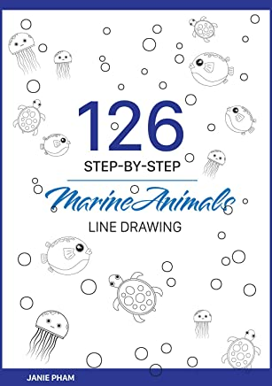 MarineAnimals Line Drawing: 126 STEP-BY-STEP Goldfish, Discus, Dolphin, Cuttle, Shark...: Draw the hand with the simplest stroke