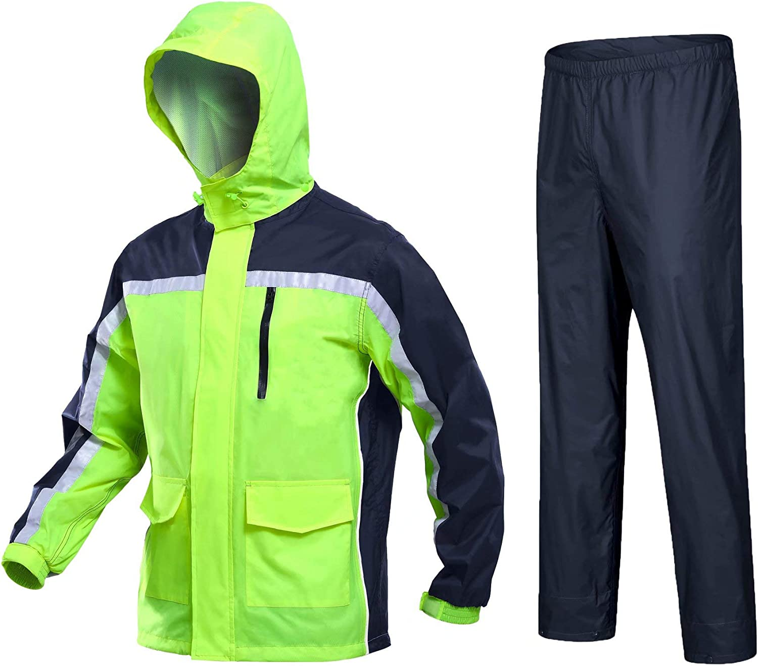MAGCOMSEN SEAL limited product Portland Mall Men's Rain Suits Waterproof Raincoats Hiker Hooded wit