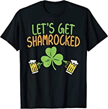 Lets Get Shamrocked Shirt St Patricks Day Irish Beer Drinkin