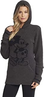 Barefoot Dreams CozyChic Classic Disney Mickey Mouse Adult Hoodie, Hooded Sweatshirt for Men and Women