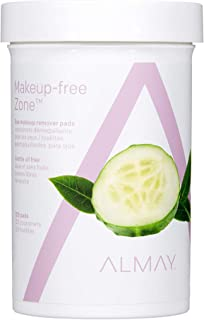 Almay Oil Free Gentle Eye Makeup Remover Pads, Hypoallergenic, Cruelty Free, Fragrance Free, Ophthalmologist Tested, 120 Pads