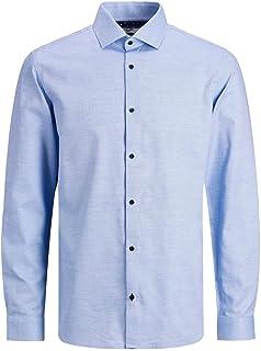 JACK & JONES Jprblaviggo Dobby Shirt L/S Noos Camicia Uomo