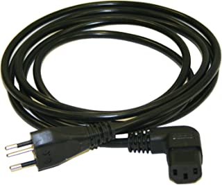 Black Plug Color Black Cable Color 13A Amperage NEMA 5-15P Plug Type Interpower 70403060183 North American Cord Set 1.83m Length Angled IEC 60320 C13 Connector Type 125VAC Voltage