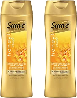 Suave Professionals Strengthening Shampoo, Honey Infusion 12.6 oz (Pack of 2)
