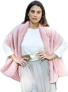 Hecho en Espa/ña Varios Colores BRANDELIA Estola Fiesta Pelo Sint/ético Mujer Chal Elegante de Primera Calidad