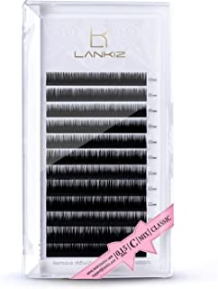 LANKIZ Eyelash Extensions, 0.15mm C Curl Mixed Tray, Faux Mink Individual Lash Extensions 8mm | 9mm | 10mm | 11mm | 12mm | 13mm | 14mm | 15mm| Mix |