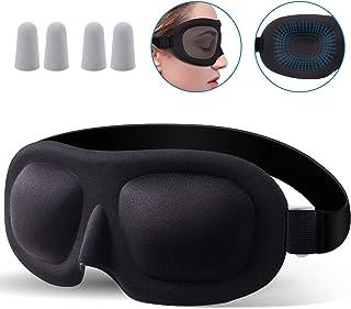 Poswlto Eye Mask for Sleeping, 99% Blackout Eye Mask Blindfold, Sleep Mask Comfortable, Sleep Mask for Men and Women, Soft Comfort Eye Shade Cover for Yoga Meditation