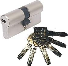 Abus EC550 - Bombín cilíndrico de doble embrague (40 x 40 mm, incluye 6 llaves)