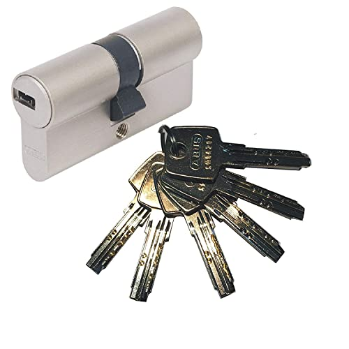 ABUS KD6NZ30//K40 KD 37511 Cylindre de Porte 40 c/ôt/é bouton x 30 mm Nickel/é