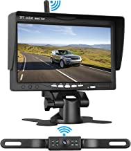 LeeKooLuu Wireless Backup Camera System for Car/Pickups/Minivan/Truck with 7