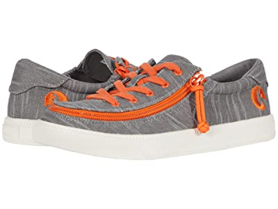 BILLY Footwear Kids Classic Lace Low (Little Kid/Big Kid) (Grey/Orange) Boy