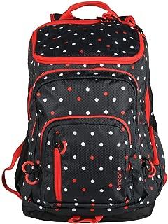 Embark 19 Jartop Elite Backpack-Black with red/White Polka dots