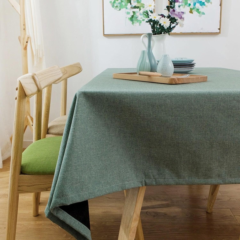 Lying Linge de maison, Tissu, Rectangle, Simple, Moderne, Couleur de couleur blanche, Salon, Table à café, Tissu, Nappe, Placemat - Décoration de table (Couleur    2, taille   120  160CM)