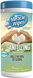 MiracleWipes for Hand Sanitizing - Gentle on Hands Tough on Germs
