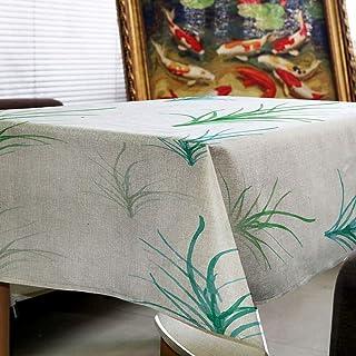 NO BRAND Mantel a Prueba de Agua Creativo Simple YPWH patrón de Hoja de Planta Verde Mantel casero Cocina Fresca y cómoda ...
