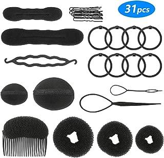 Winkeyes Hair Styling Set, Hair Design Styling Tools Accessories DIY Hair Accessories Hair Modelling Tool Kit Hairdresser Kit Set Magic Simple Fast Spiral Hair Braid Hair Braiding Tool, Set of 10