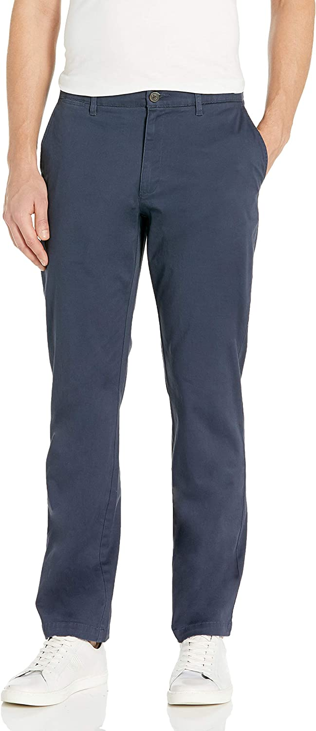 Goodthreads Men's Straight-Fit Washed Comfort Stretch Chino Pant: Clothing