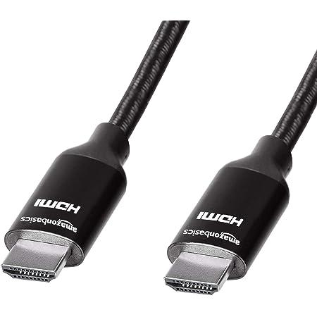 Amazon Basics - Cavo HDMI intrecciato ad alta velocità, nero, 0,9 metri