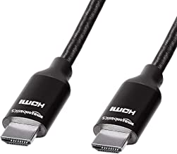 AmazonBasics High-Speed Braided HDMI Cable  Black 1 83