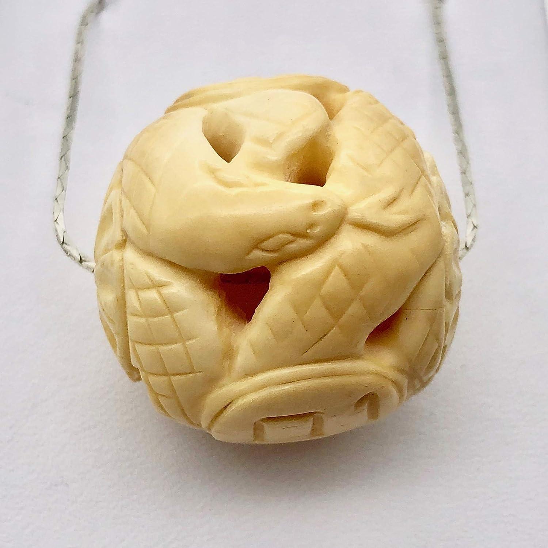 Chinese Japan Maker New Zodiac Year of The 30mm Bone Oakland Mall Snake Waterbuffalo Bead