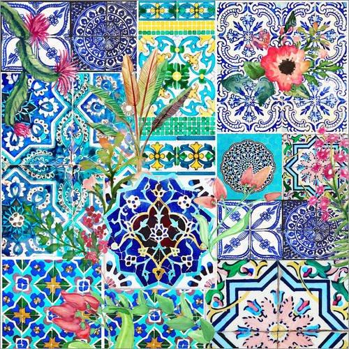 Posterlounge Acrylglasbild 13 x 13 cm: Dolce Vita Orient von Elisandra Sevenstar - Wandbild, Acryl Glasbild, Druck auf Acryl Glas Bild