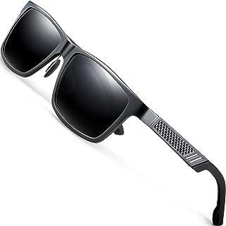 ATTCL - Hombre polarizado gafas de sol Al-Mg marco de Metal Ultra Light 6560gray