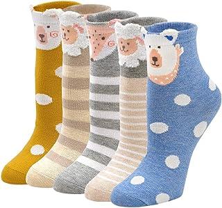 ZAKASA Calcetines De Algodón Para Niños y Niñas, Calcetines Invierno Conejo Oso Oveja Estampados, Calcetines Cómodo Suave ...
