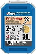 Kreg SML-C250-50 2-1/2-inch #8 Coarse Washer-Head Pocket Schroeven, 50 Count, Model: SML-C250 - 50, Gereedschappen & Hardw...