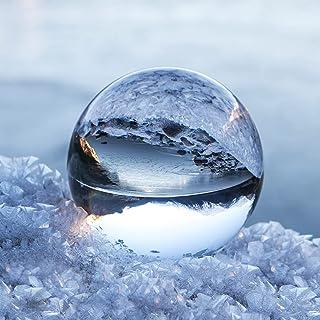 Boule de Cristal avec Support, NinkBox Boule de Décoration, K9 Cristal Boule pour la Photographie/Divination, Boule en Ver...