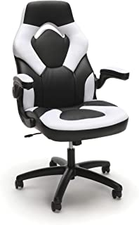 OFM Model ESS-3085 Essentials Collection Racing Style Leather Gaming Chair - White