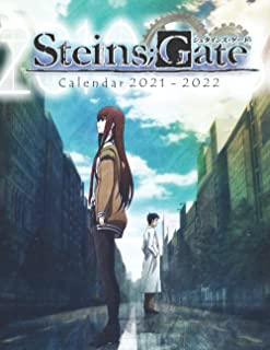 Steins;Gate Calendar 2021-2022: Great Anime Gifts for any Fan with Grid 8.5x11 18-month Calendar !!!
