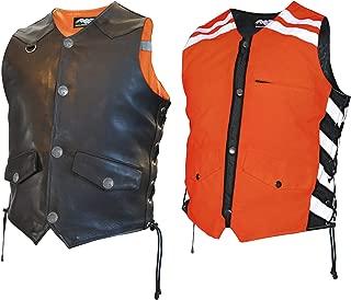 Missing Link Men's G2 D.O.C. Reversible Safety Vest (Black/Orange, XX-Large)