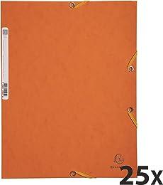 Exacompta 55504E Carton de 25 Chemises 3 rabats à