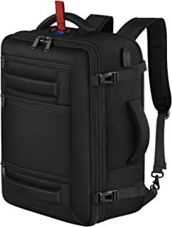 Carry on Backpack, Extra Large Travel Backpack with Digital Scale Expandable Flight Approved Weekender Bag for Men and Women, Water Resistant Lightweight Daypack for Airplane 40L, Black