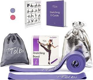 Stretch Bands for Dancers, Ballerinas and Gymnasts | Dance Stretch Bands for Flexibility, Mobility and Strength | Shiny Bag, Travel Bag, Printed Stretches and Stretching E-Guide