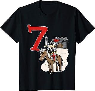 Enfant 7e anniversaire du chevalier - Château et numéro 7 T-Shirt