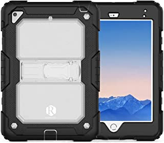 Apple Ipad Mini 4 / Mini 5 Remson Rugged Shockproof Drop Protection with Kickstand/Shoulder Strap Case Cover (Clear)