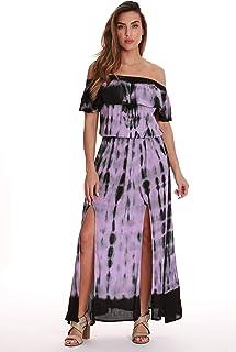 d52ef2d431d Riviera Sun Tie Dye Off Shoulder Maxi Sundress Swimwear Cover Up Dress