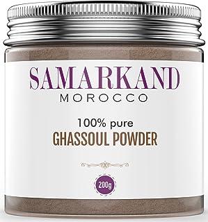 Ghassoul Arcilla en Polvo (Rhassoul) - Arcilla Limpiadora y Mascarilla para Cara y Pelo 100% Ecológica de Marruecos 200 gr