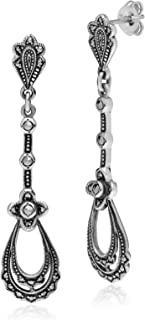 Best silver marcasite drop earrings Reviews