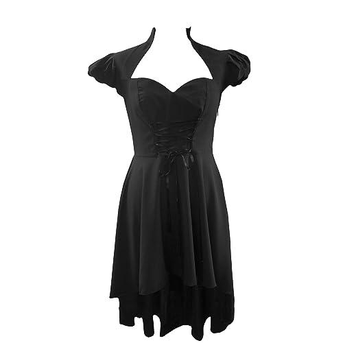 4b28b88bc2 DangerousFX Black Gothic Long Fishtail Corset Top Victorian Steampunk Fancy  Dress Sizes 6-28